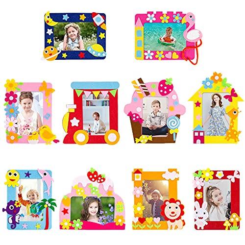 Comius Sharp Bambini Creazioni Kit da Cucito, 8 Pezzi Kit da Cucito Fai da Te per Bambini attività Creative Mestieri Stoffa di Feltro Cucito Porta Penna Regali per Bambini Ragazzi e Ragazze (B)