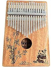 Rayzm Kalimba/Mbira Africana en C (Do). Piano Arpa de mano con Accesorios. Marimba de 17 Teclas, Instrumento de Bolsillo para Amantes de la Música/Principiantes (Caoba macizo).