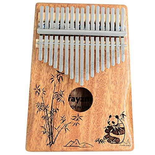 Rayzm Kalimba/Piano à Pouce/Piano tactile avec Accessoires, Instrument Portable Marimba à 17 Touches pour Amateurs de Musique/Débutants (Acajou Massif)