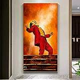 ganlanshu Cartel de Arte de Pared de Payaso en Lienzo de Imagen de Alta definición para la decoración del hogar de la Sala de Estar,Pintura sin marco-70X125cm
