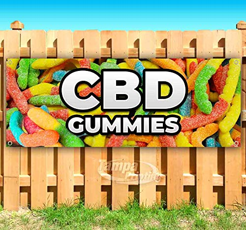 Cbd Gummies 13 oz Banner | Non-Fabric | Heavy-Duty Vinyl Single-Sided with Metal Grommets