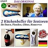 LifeShift Flaschenöffner für Senioren Plus Deckelöffner Dosenöffner Arthritis Arthrose 2xSET
