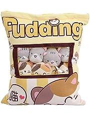 Warring States Een Plushie Bag Pudding Speelgoed Mini Dieren Pop Sakura Bunny Hamster Pinguïn Beer Chick Aardbei Hond Kat Varkenskussen Gift