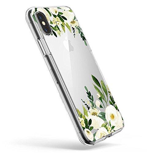 Pacyer Case kompatibel mit iPhone X Hülle Silikon Ultra dünn Transparent Handyhülle Rückschale TPU iPhone X Schutzhülle für Apple iPhone X Case Cover Mädchen Elefant Federn(10)