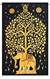 Indian Tapestry Hanging Bohemian Nature Dorm Room Tapestry Full Size 84' X 56' by Ibaexports