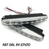 Faros diurnos LED, 12V, 2 unidades de Faros diurnos con 8Unidades LED, con certificado E4R87y aprobación de las autoridades alemanas (StvzO)