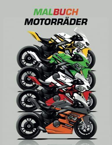 Malbuch Motorräder: für Biker-Liebhaber, Motorräder für Erwachsene