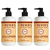 Mrs. Meyer's Clean Day Hand Lotion, Long-Lasting, Non-Greasy Moisturizer, Cruelty Free Formula, Oat Blossom Scent, 12 oz- Pack of 3