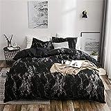 WANGCAN Bettbezug Bettwäsche-Set,mit Betttuch Kissenbezug in viele Farbe|Marmor dreiteiliges Set C-3 260 * 230cm + 50 * 75 * 2cm