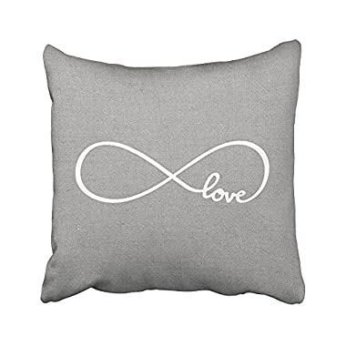 SPXUBZ Forever Rustic Gray Love Lumbar Pillow Cotton Polyesterwith Hidden Zipper Decorative Home Decor Square Indoor/Outdoor Throw Pillowcase Size: 16x16 Inch(Two Sides)