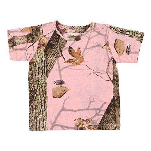 Kings Camo Toddler Short Sleeve Tee Woodland Pink, Size: 2t (Kct903-Wp-2t)