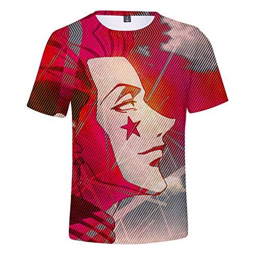 ZXRYF Cosplay 3D Gedrucktes Shirt Kurzarm Rundhals Kapuzensweatshirt Kurzarm T-Shirt Für Frühling Und Sommer Jungen, Mädchen, Kinder, H,M
