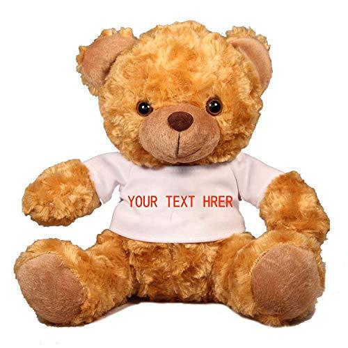 Oso de Peluche Marrón Osito Suave Oso de Peluche Stuffed Animal Bear Plush Toy de 25cm, Decoración de Regalo de Cumpleaños de Brown, Texto Personalizado
