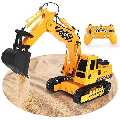 Excavator Toy 2.4GHz Remote Control Excavator, 11 Channel...