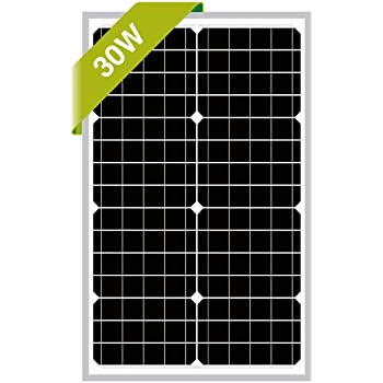 Newpowa 30W Monocrystalline Solar Panel with 3ft+1ft Wire,add Anderson connectors RV Marine Boat Off Grid (4ft Anderson Connector)