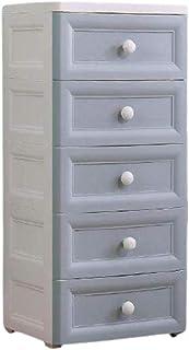 Plastique Chambre Armoire de Rangement avec 5 tiroirs combinable Dresser Tour de Rangement Organisateur Unité de Salle de ...