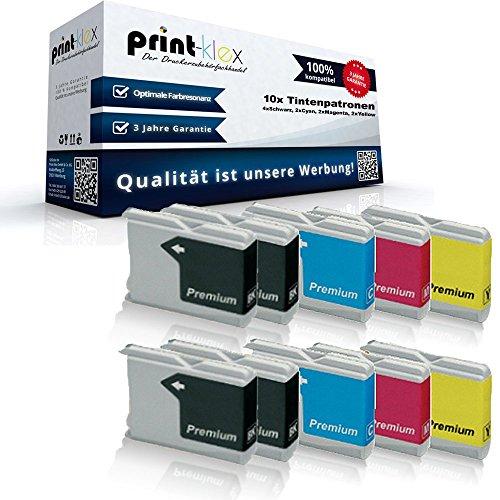 10x kompatible Tintenpatronen für Brother LC970 LC1000 MFC 235C MFC 240C MFC 260C MFC 465CN MFC 660CN MFC 665CW MFC 680CN MFC 685CW MFC 845CW - Sparpack - Büro Office Serie