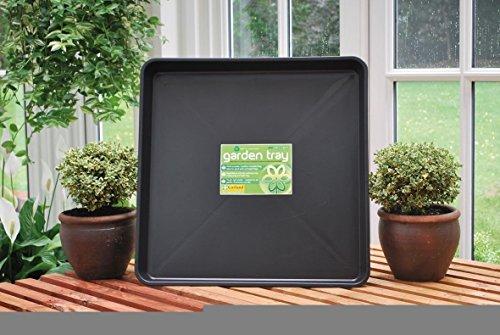 Rechteckiges Gartentablett von Garland Originalverpackung Schwarz