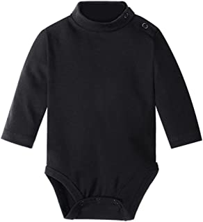 Baby Long Sleeve Solid Turtleneck Bodysuits Multicolor 3 Months-3 Years