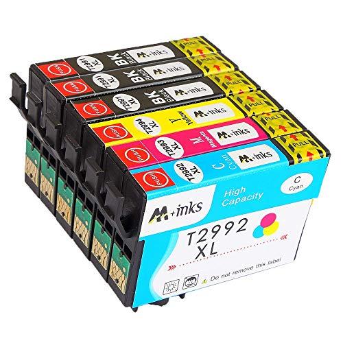 AA+inks Cartuccia d'inchiostro compatibile per Epson T29XL Expression Home XP-442 XP-435 XP-432 XP-355 XP-352 XP-345 XP-342 XP-335 XP-332 XP-257 XP-255 XP-245 (3 nero,1 ciano,1 magenta,1 giallo)