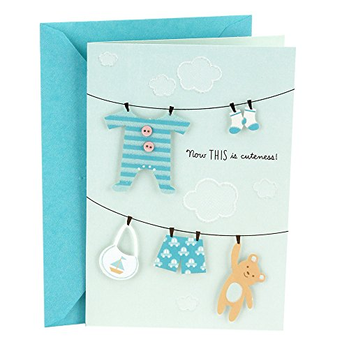 Hallmark Baby Shower Card (Blue, Now This is Cuteness)