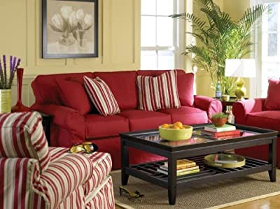 Vivante Natural Harmony Classic Sofa in Stanford Red by Sofa Trend