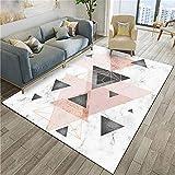 WQ-BBB Moderna Alfombra no se desvanece Imitación de Moda veteado diseño de Estilo geométrico Negro Rosa púrpura alfombras Salon Grandes 300X400cm