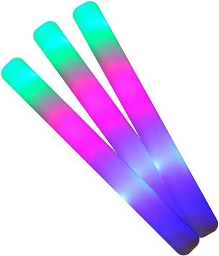 100 Schaumstoff-Handst  Leuchteffekten Farben