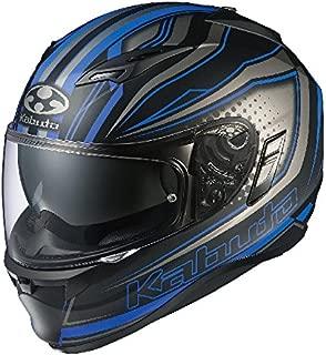 オージーケーカブト(OGK KABUTO) バイクヘルメット フルフェイス KAMUI2 GALAN(ギャラン) フラットブラックブルー (サイズ:XL) 575571