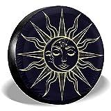 Drew Tours Copertura per Pneumatici di Ricambio Tarocchi Sun Moon Waterproof Camp Universal Tire Truck, 16 Pollici