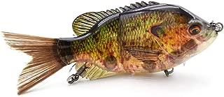 5.9-10in Multi Jointed Swimbait Fishing Lures Bait,2 4 8 Segment Big Giant Sinking Fishing Bass Lures,Crankbaits Swimbaits with Treble Hook
