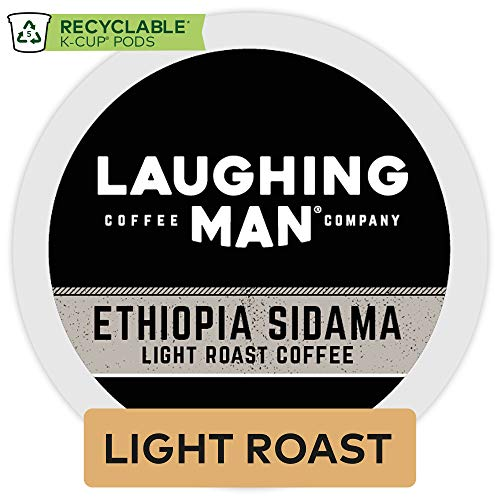 Laughing Man Ethiopa Sidama, Single-Serve Coffee K-Cup Pods, Light Roast, 16 Count