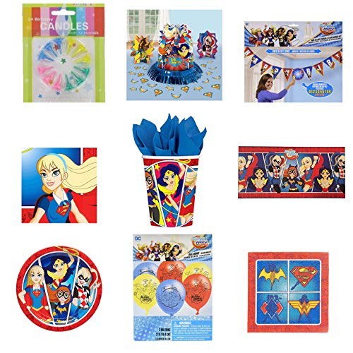 Buy DC Superhero girls Deluxe Party Supplies: Serves 16 Guest