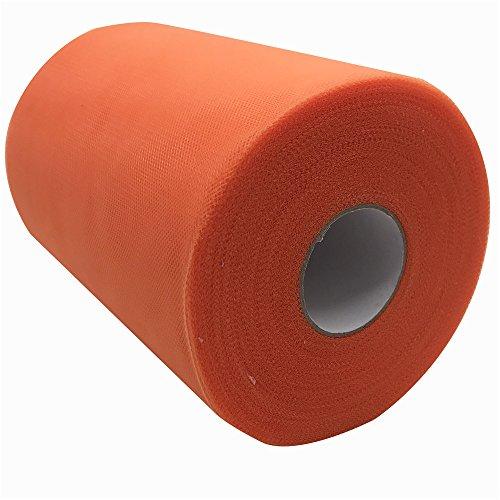 Tüllstoff, 15,2cm x 91m (300Fuß), Spule/Rolle, 59Farben erhältlich, für Tischläufer, Stuhl-Schärpe, Tutus, Schleifen, für Hochzeiten, Partys, als Geschenkband orange