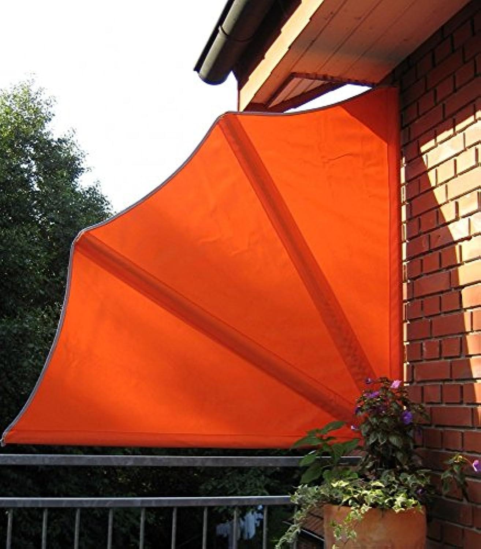 Beauty.Scouts Balkonfcher inkl Schutzhülle und Wandhalterung Sichtschutz Orange Stahlrohr Stellwand Markise Sonnensegel wetterfest