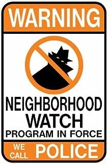 Tapco CW-1 Engineer Grade Prismatic Rectangular Neighborhood Safety Sign, Legend