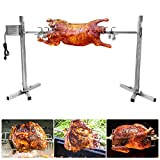 HUKOER BBQ Electric Rotisserie Kit,15W Stainless Steel Barbecue Set, Height Adjustable Outdoor Large Grill Barbecue Stove, Ideal for Outdoor Cooking Camping Hiking Picnic