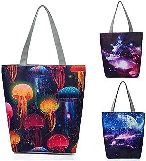 Docooler Women Shopping Totes Bag Owls Print Zipper Pocket Large Capacity Handbag Shoulder Bag