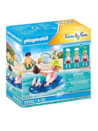 PLAYMOBIL Family Fun 70112 Badegast mit Schwimmreifen, Schwimmfähig, Ab 4 Jahren