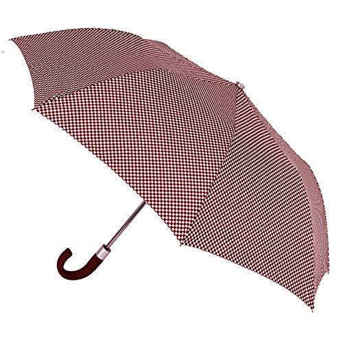 Estilo y Comodidad en un sólo Paraguas. Paraguas VOGUE Plegable automático con Estampado Cuadros Vichy. Antiviento y Acabado Teflón Que repele el Agua.