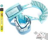 Bracelet de Securite pour Enfant et Bebe Dolbomy - Longueur de 2m en Acier Résistant et Elastique - Avec Verouillage à Clé et Sifflet de Détresse - Attache Poignet ou Harnais Poussette Anti Perte