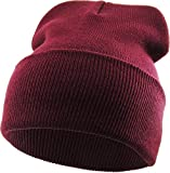 SKIHAT-Long BUR Thick Beanie Skully Slouchy & Cuff Winter Hat Made in USA