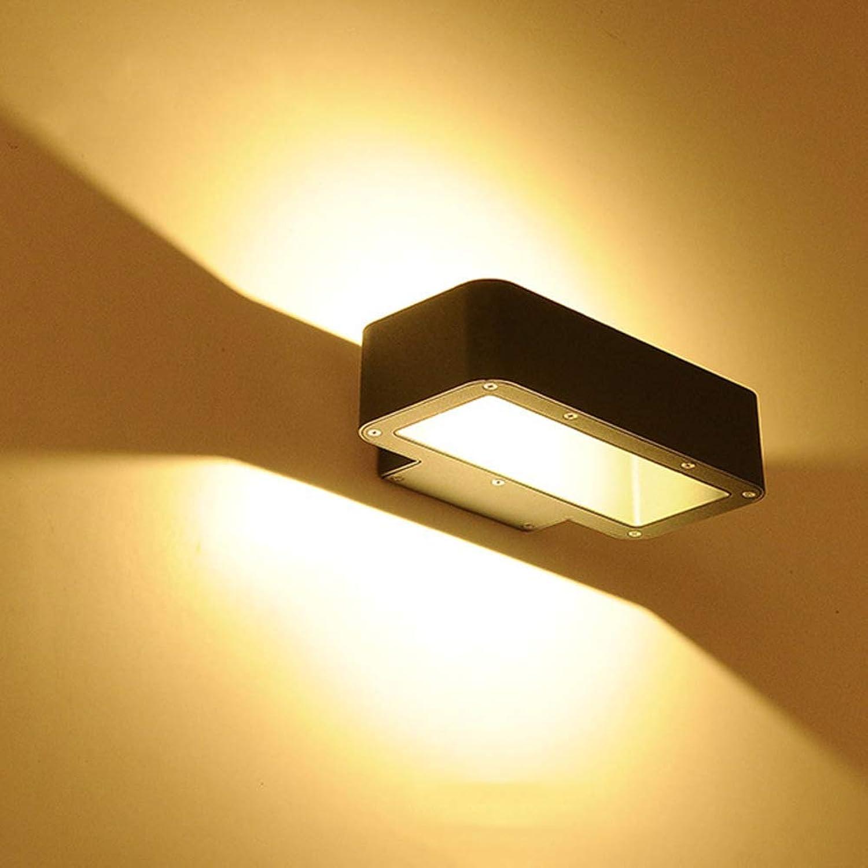 WENYAO Aluminium LED Ip65 Wandleuchte, Up Down Lights Square Wash Lichter für den Auenhof Auengang Balkon Leuchte-Rechteck L22  B13  H5.5cm