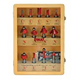 Freud 91-100 13-Piece Super Router Bit Set with 1/2-Inch Shank and Freud's TiCo...