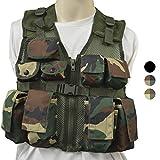 Nitehawk - Gilet tactique/de combat - style militaire/police - enfant - Camouflage Woodland