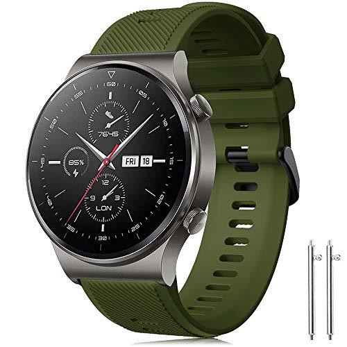 Forerunner 745 Cinturino Huawei Watch GT 2 46mm/Huawei GT Sport/Active/Elegant/Classic Braccialetto Silicone Polsino Banda 22mm Cinturino per Galaxy Watch 3 45mm/46mm/Gear S3 Frontier/Classic