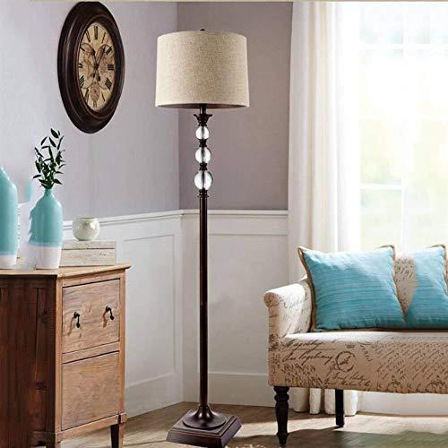 HYY-YY Vloerlampen, Europese luxe Crystal Bedroom Floor Floor Lamp, Modern Simple Floor Lights for Living Room Lamp inbegrepen