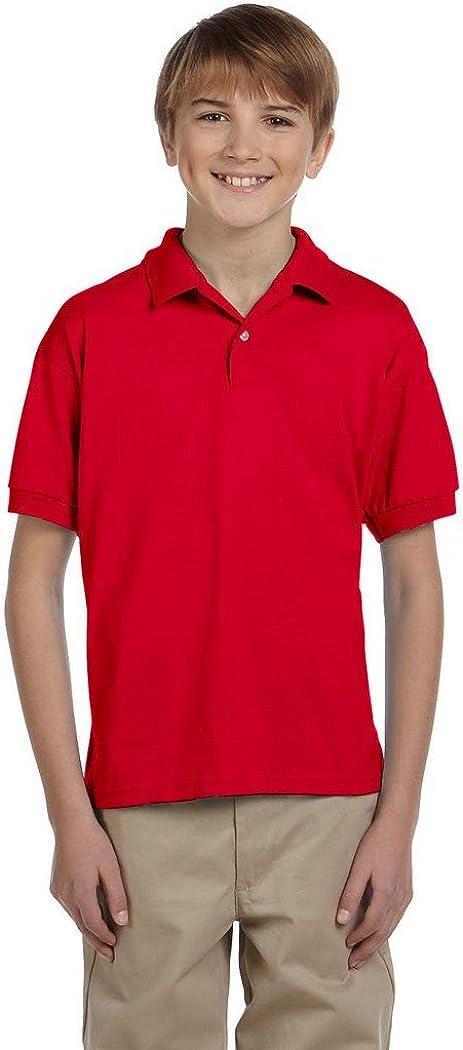 Gildan Youth Dryblendjersey Polo 8800B Ash 50 50