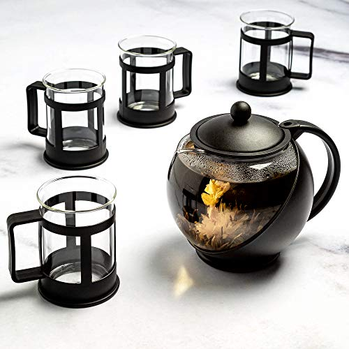 Buy Discount Primula Half-Moon Teapot for Flowering Tea Set – Wide Mouthed Temperature Safe Glass ...