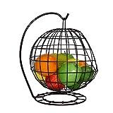 AHZV Fruit Basket avec Banana Crochet Fruit Bowl Métal Display Rack, Noir